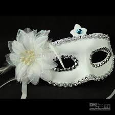 Decorating Masquerade Masks Flower Mask Snow White Decoration Masquerade Mask Half Face Party 2