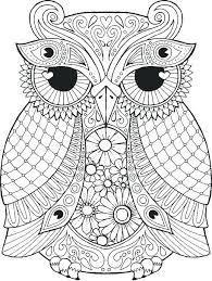 Owl Coloring Pages Free Snowy Owl Coloring Pages For Adults Free