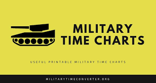 Military Chart Military Time Chart Fastest Way To Convert Military Time