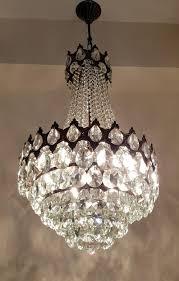 Kristalle Den Deckenlampe 1960er Kronleuchter Pendelleuchte