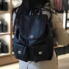 New Coach F37410 Billie Pebble Leather Backpack