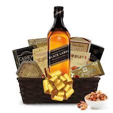johnnie walker black label gift basket