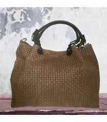 light brown woven pattern tote italian leather bags