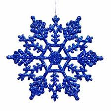 Plastic Snowflake Ornaments set of tiny 24pcs Sparkling blue Iridescent  Glitter Snowflake Ornaments on String Hanger for Decorating, Crafting and  ...