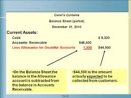 allowance for uncollectible accounts balance sheet accounts receivable and uncollectible accounts ppt video online