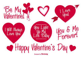 valentine s day vector labels