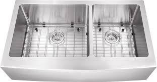 hand made ap6040 36 ra a front farmhouse double bowl undermount stainless steel sink 60 40 offset 16 gauge package includes grid set and two strainers