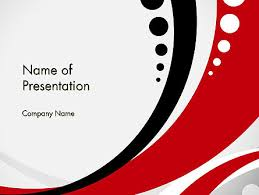 Red Black Wave Pattern Powerpoint Template Backgrounds 14104
