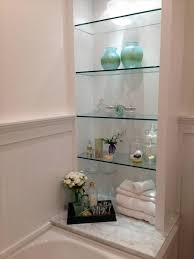 Small glass bathroom shelf Acrylic Full Size Of Home Corner Shelf Bathroom Recessed Caddy Small Lowes Brackets Depot Tile Shelves Shower Damnineedajob Licious Small Glass Shower Shelves Insert Supports Home Exciting