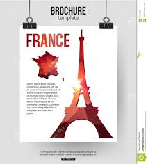 France Travel Background Brochure With France Map French Travel