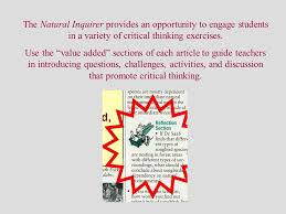 Critical thinking From Wikipedia  the free encyclopedia Critical     Within the framework of scientific skepticism  the process of critical  thinking involves acquiring information and