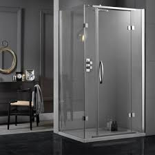 aquadart inline hinged 2 sided 800 x 800mm shower enclosure 14152