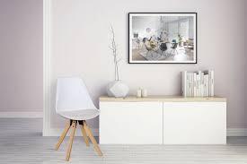 Wohnling 2er Set Retro Esszimmerstuhl Lima Weiß Polsterstuhl Küchenstuhl Rückenlehne
