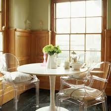 Clear Dining Room Table Adorable Dining Room Set Idea With Chic Clear Acrylic Dining