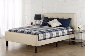 Amazon.com - Zinus Upholstered Button Tufted Platform Bed with Footboard,  Full -