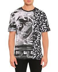 versace shirts for men 2013. painted medusa studded-trim t-shirt versace shirts for men 2013