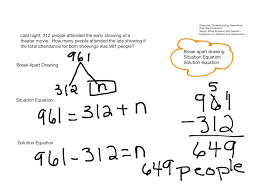 situation and solution equations for word problems math elementary math 5th grade math showme