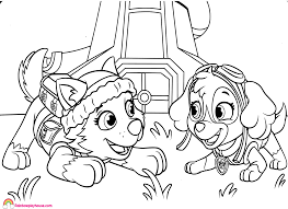 Coloring Pages Paw Patrol Printable Coloringes Sky Skye Free For