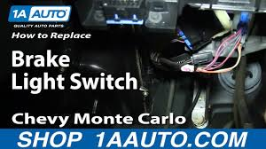 Chevy Brake Light Switch Clip How To Replace Brake Light Switch 96 05 Chevy Monte Carlo