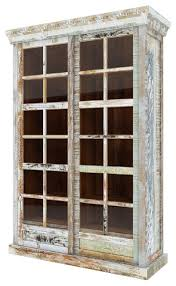 tucson rainbo with rustic reclaimed wood glass door display cabinet farmhouse china cabinets and hutches by sierra living concepts