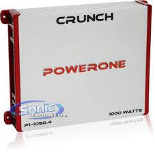 crunch p1 1050 4 p11050 4 1000w 4 channel power one series class crunch p1 1050 4