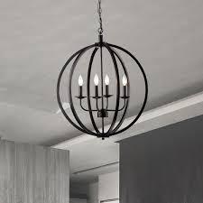 brilliant black orb chandelier benita antique black 5 light iron orb flush mount chandelier