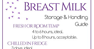 Breast Milk Rules Chart Moming About Breast Milk Storage Guidelines