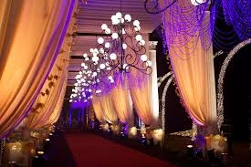 entrance decor, gold and purple decor, chandelier entrance