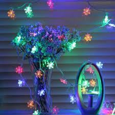 Dây đèn led nhiều màu 4m bông tuyết - giá sỉ tốt nhất chỉ có tại Ưng Ý