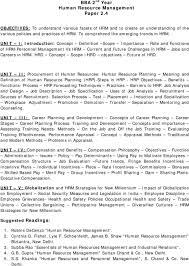 Personnel Management Job Description Bba 2 Nd Year Human Resource Management Paper Pdf
