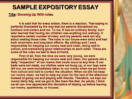 esol and language arts teacher ppt  sample expository essay
