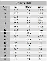Sherri Hill Size Chart 53735
