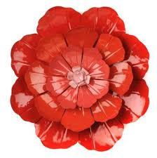 our flower ombre metal wall art is a great way to add a pop of color on bright poppies metal wall art with 83 best august rose autumn rose images on pinterest bungalows