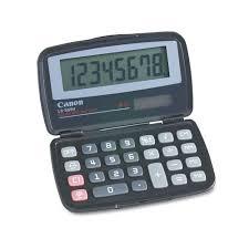 LS555H Handheld <b>Foldable</b> Pocket <b>Calculator</b> by Canon ...