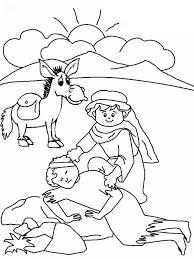 Small Picture Good Samaritan Drawing Coloring Page NetArt