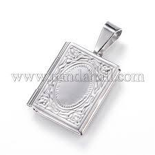 316 stainless steel photo frame locket pendants stas p103 02 p 1