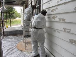 if you think a lot of paint is going to come off the house you might want to put drop cloths under the area you are working on to catch all the