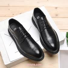 dress shoes men winter genuine leather casual leather shoes thermal plus velvet black