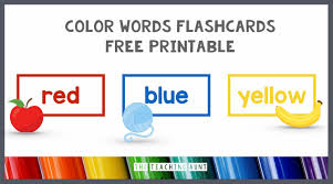 What are some other ways you have your students practice their cvc words? Color Words Flashcards Free Printable The Teaching Aunt