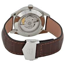 tag heuer carrera automatic silver dial brown leather mens watch item specifics