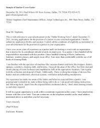 Sample Custodian Cover Letter Janitorial Cover Letter Resume Of