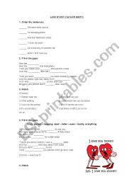 LOVE STORY lyrics - ESL worksheet by guaskiii
