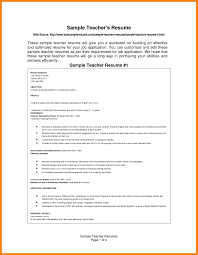 Free Teacher Resume Template 100 cv format for teaching download prome so banko 85