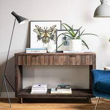 reclaimed dark console table