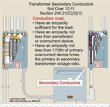 transformer secondary conductors scenario 3 secondary conductors not over 10 feet long