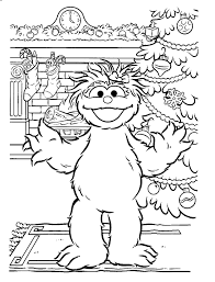 Small Picture Sesame Street Activity Coloring Pages for Kids Free Printable