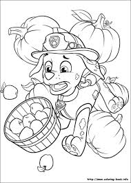 Small Picture Marshall Thanksgiving Paw Patrol coloring page Zac party