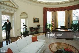 reagan oval office. President Ronald Reagan Takes One Last Fond Look Back At The Oval Office White M