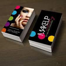 business card ideas makeup artist