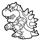 Small Picture Coloring pages Mario Bros and Luigi Nintendo